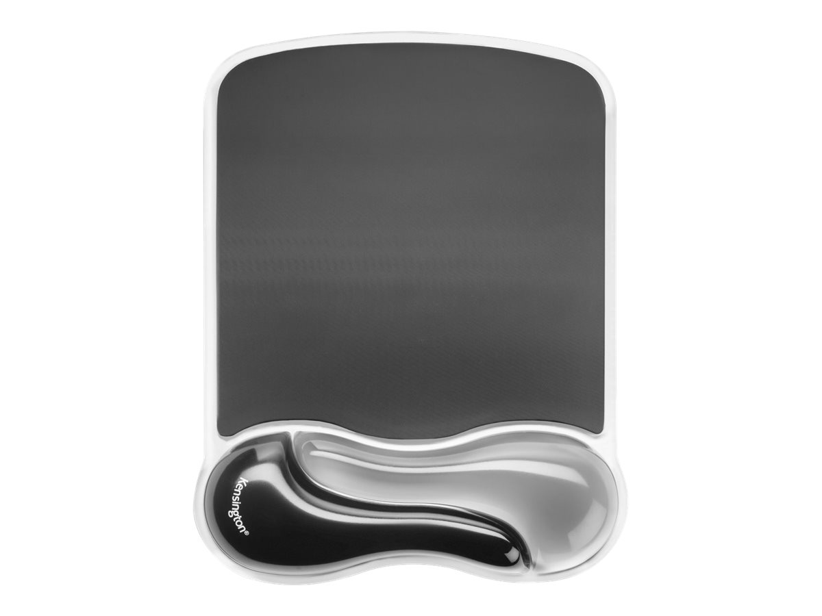 Kensington Duo Gel Mouse Wristrest Wave - Mauspad mit Handgelenkpolsterkissen - Two-Tone Graphite