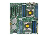 SUPERMICRO X10DAC - Motherboard - Erweitertes ATX - LGA2011-v3-Sockel - 2 Unterstützte CPUs - C612