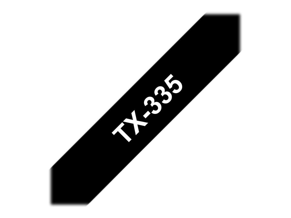 Brother TX - Weiss auf Schwarz - Rolle (1,2 cm) 1 Rolle(n) laminiertes Band - für P-Touch PT-30, PT-7000, PT-8000, PT-PC