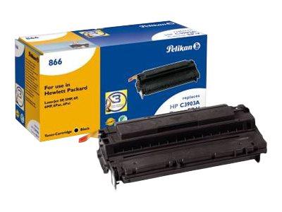Pelikan 866 - Schwarz - Tonerpatrone (Alternative zu: Canon EP-V, HP C3903A) - für HP LaserJet 5mp, 5p, 6mp, 6p, 6pse, 6pxi
