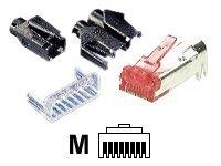 EFB-Elektronik Hirose TM21 - Netzwerkanschluss - RJ-45 (M) - abgeschirmt - CAT 6 - Hellgrau (Packung mit 10)