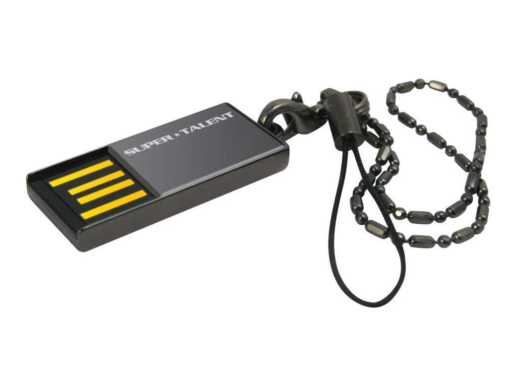 Super Talent Pico Series C - USB-Flash-Laufwerk - 8 GB - 200x - USB 2.0 - Nickel