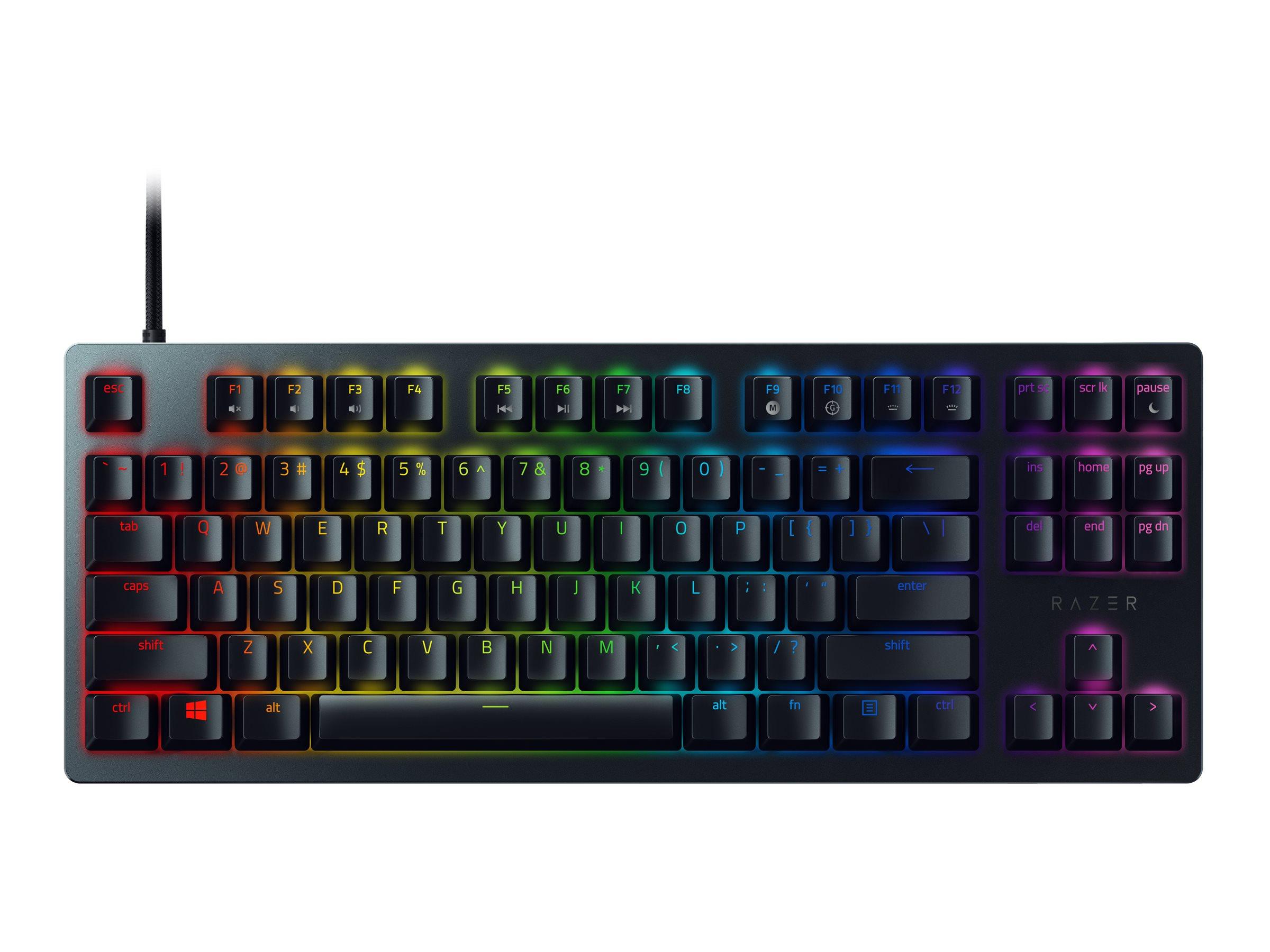 Razer Huntsman Tournament Edition - Tastatur - hintergrundbeleuchtet - USB-C - USA - Tastenschalter: Razer Linear Optical