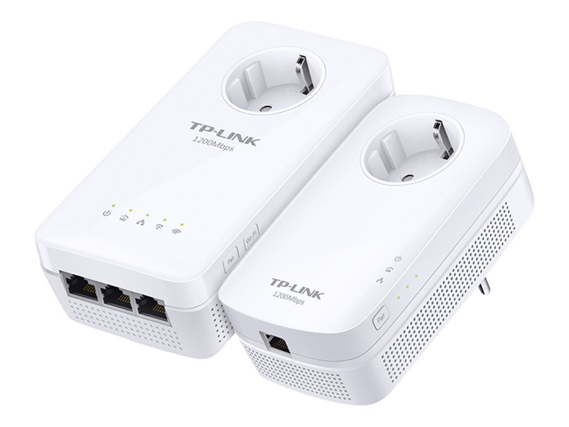 TP-Link TL-WPA8630P KIT - Bridge - 3-Port-Switch - HomePlug AV (HPAV) 2.0, IEEE 1901 - 802.11a/b/g/n/ac - Dual-Band