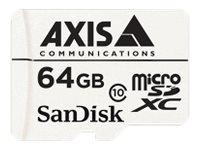 AXIS Surveillance - Flash-Speicherkarte (microSDXC-an-SD-Adapter inbegriffen) - 64 GB - Class 10 - microSDXC - weiss (Packung mi