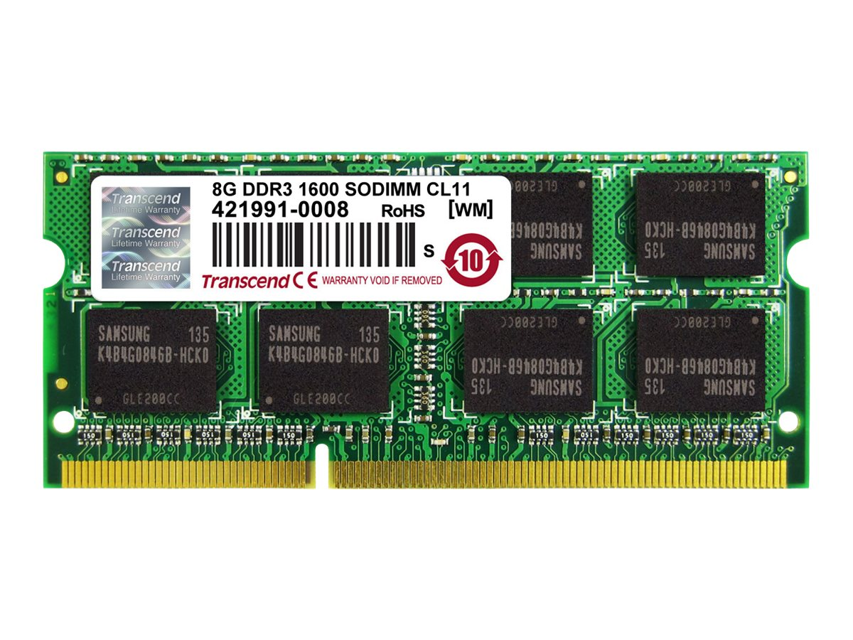 Transcend - DDR3 - 8 GB - SO DIMM 204-PIN - 1600 MHz / PC3-12800 - CL11