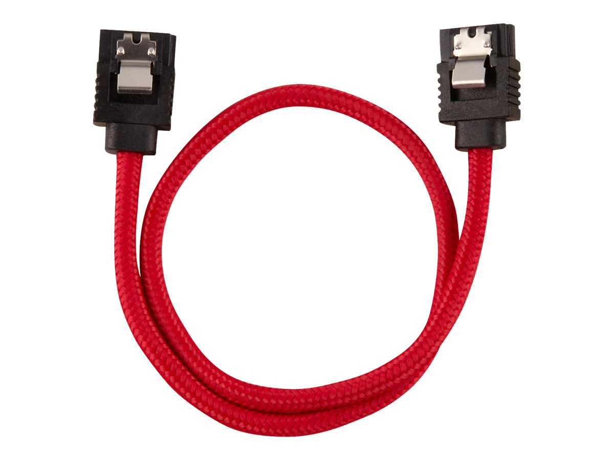 CORSAIR - SATA-Kabel - Serial ATA 150/300/600 - SATA (M) bis SATA (M) - 30 cm - Rot