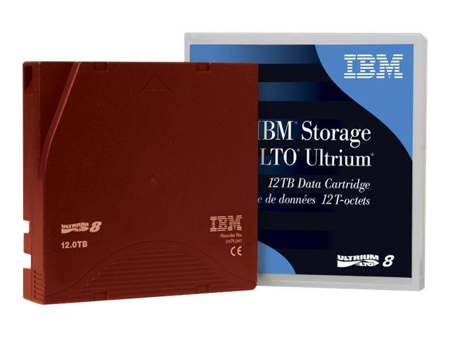 Lenovo - LTO Ultrium 8 - 12 TB / 30 TB - Mit Strichcodeetikett - Weinrot