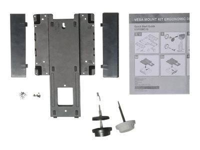 Fujitsu for Height Adjustable FUJITSU Displays - Montagekit zur Anbringung von Thin Clients an Monitoren - Schwarz - für ESPRIMO