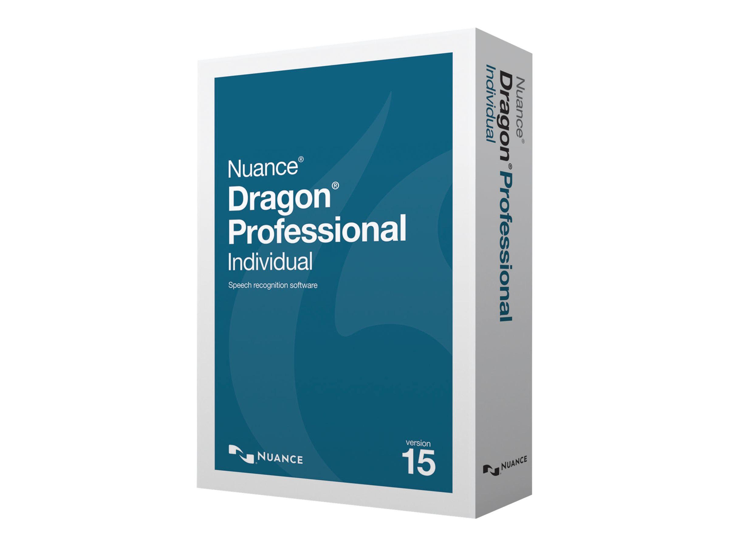 Dragon Professional Individual - (v. 15) - Upgrade-Lizenz - 1 Benutzer - Upgrade von Dragon NaturallySpeaking Professional 12 od