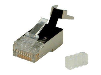 Roline - Netzwerkanschluss - RJ-45 (M) - CAT 6 - geformt - durchsichtig (Packung mit 10)