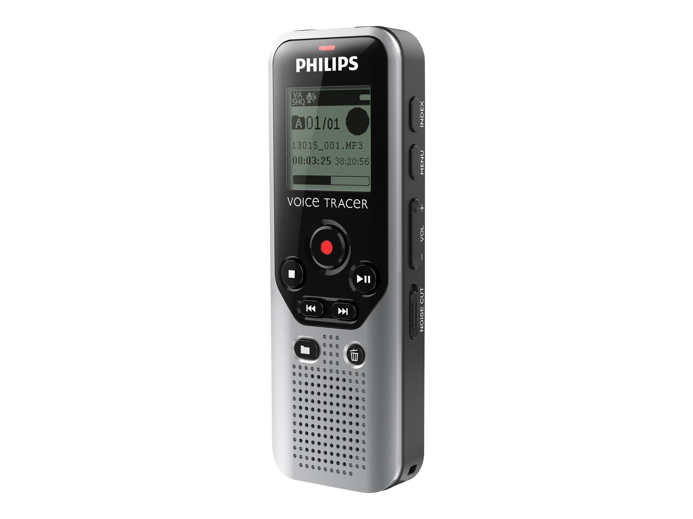 Philips Voice Tracer DVT1200 - Voicerecorder - 4 GB - Schwarz, Dark Silver