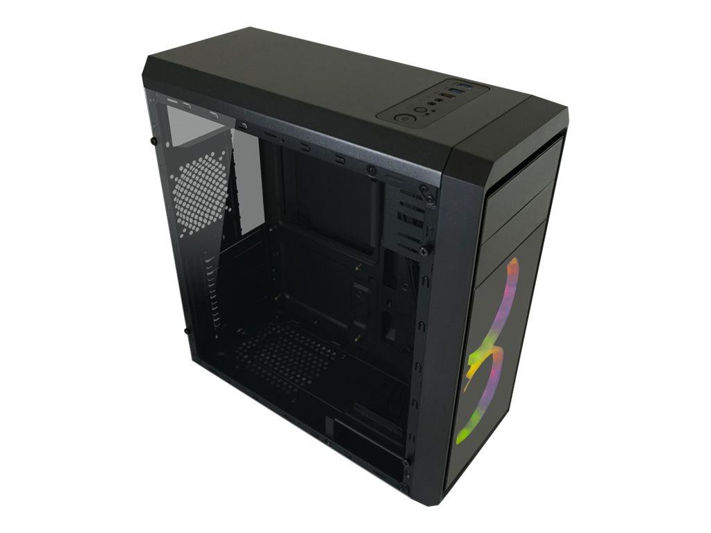 LC Power Gaming 999B Phantasm - Tower - ATX - ohne Netzteil - Schwarz, durchsichtig - USB/Audio