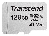Transcend 300S - Flash-Speicherkarte - 128 GB - A1 / Video Class V30 / UHS-I U3 - microSDXC