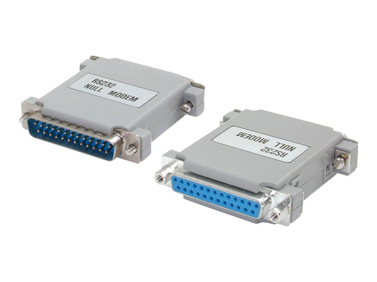 StarTech.com Null Modem Adapter DB25M to DB25F - Nullmodemadapter - DB-25 (M) bis DB-25 (W)