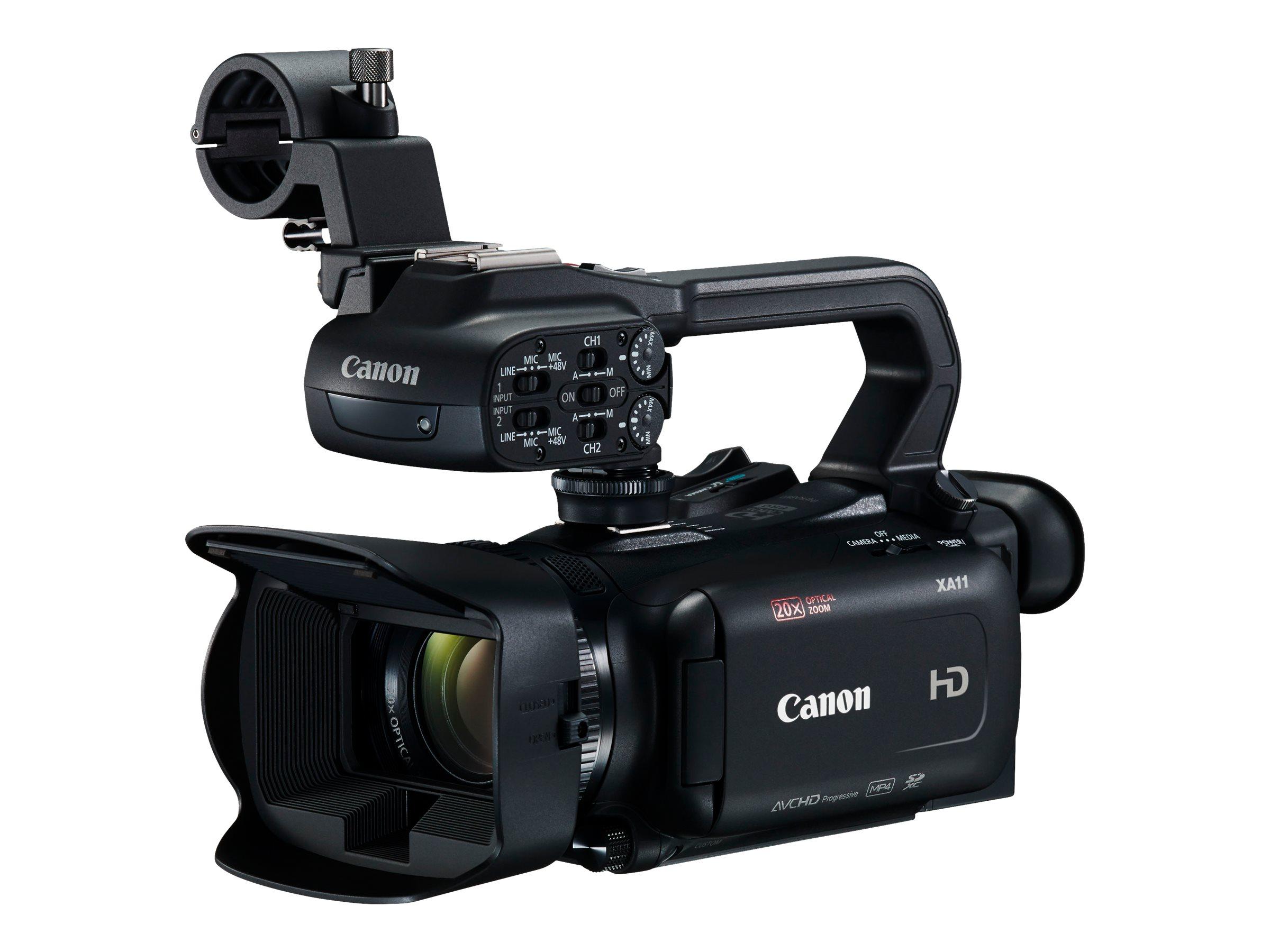 Canon XA11 - Camcorder - 1080p / 50 BpS - 3.09 MPix - 20x optischer Zoom - Flash-Karte
