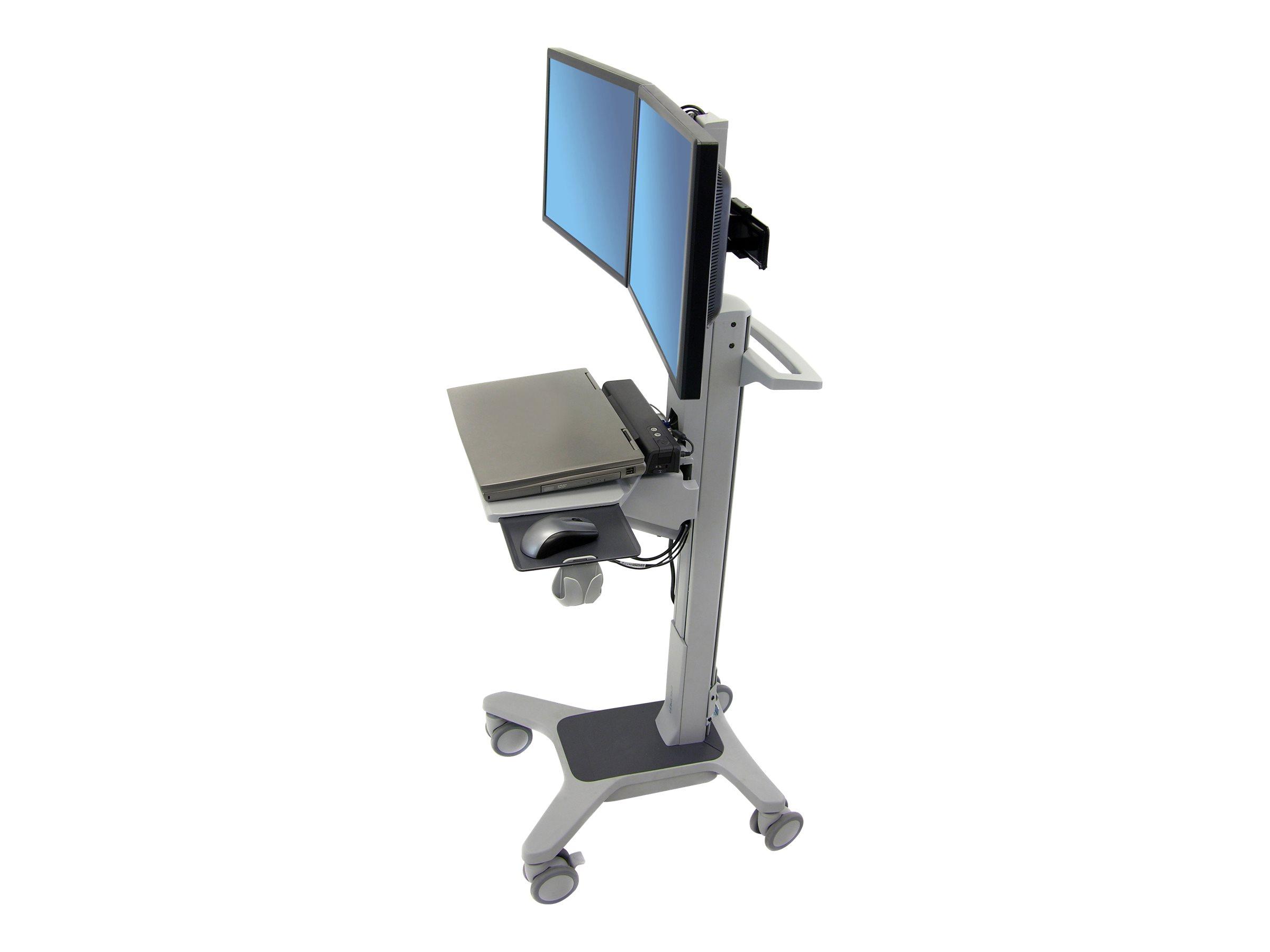 Ergotron Neo-Flex Dual WideView WorkSpace - Wagen für LCD-Display / Tastatur / Maus / CPU / Scanner - Aluminium, pulverbeschicht