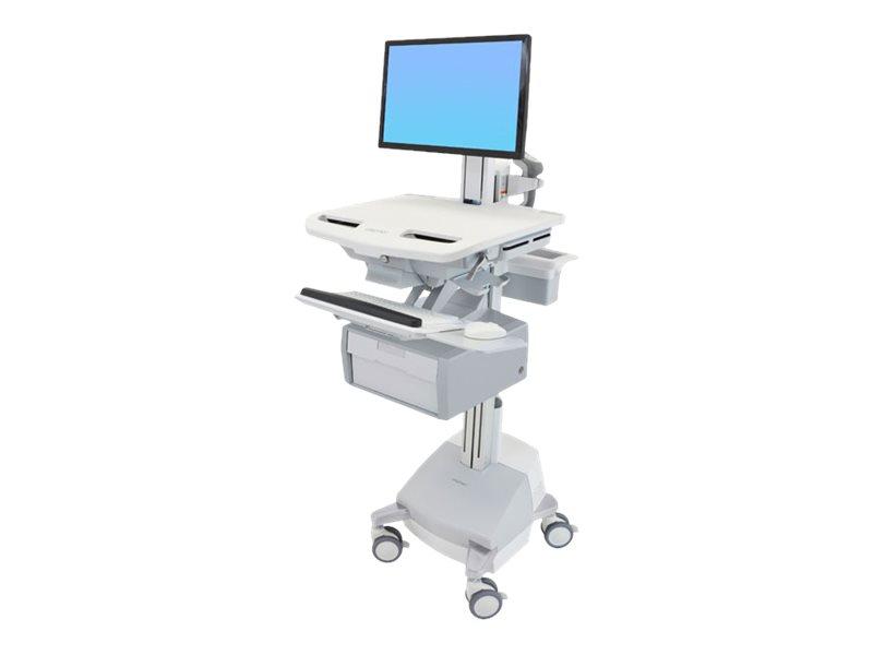 Ergotron Cart with LCD Pivot, SLA Powered, 1 Tall Drawer - Wagen für LCD-Display/Tastatur/Maus/CPU/Notebook/Barcodescanner (offe