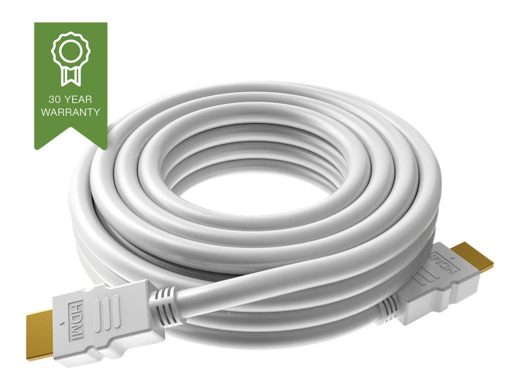 VISION Techconnect - HDMI mit Ethernetkabel - HDMI (M) bis HDMI (M) - 2 m - weiss - 4K Unterstützung
