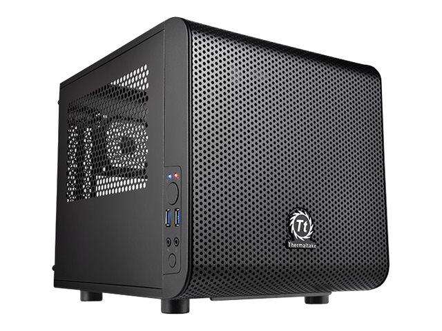 Thermaltake Core V1 - Tower - Mini-ITX - ohne Netzteil - Schwarz - USB/Audio