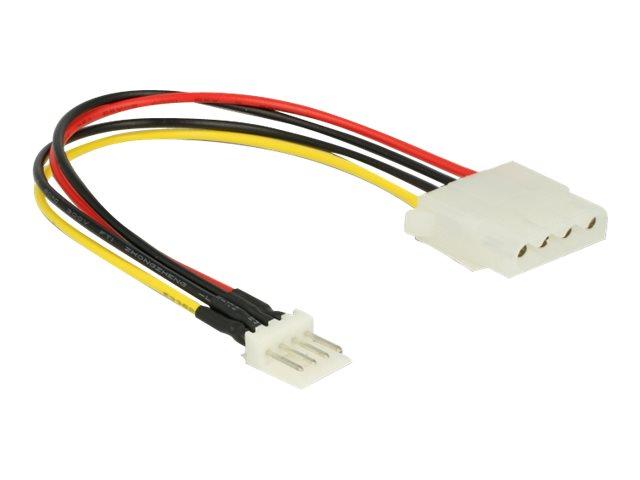 DeLOCK - Netzteil - interne Stromversorgung, 4-polig (W) bis 4-Pin-Mini-Stromversorgungsstecker (M) - 5 / 12 V - 15 cm