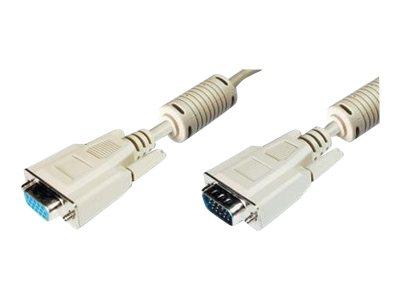 ASSMANN - VGA-Verlängerungskabel - HD-15 (VGA) (W) bis HD-15 (VGA) (M) - 15 m - geformt
