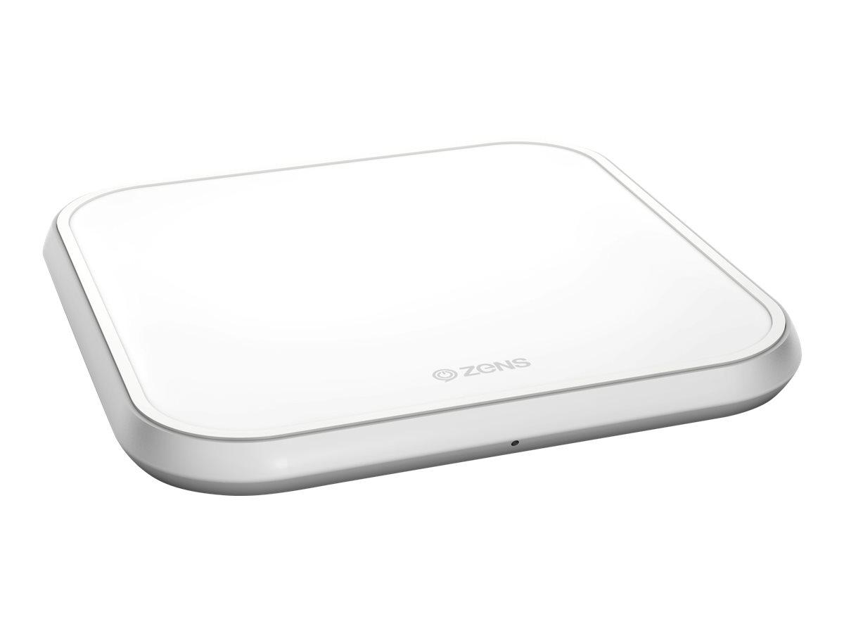 ZENS Single Aluminium Wireless Charger - Induktive Ladematte + AC-Netzteil - 10 Watt - Apple Fast Charge / Samsung Fast Charge -