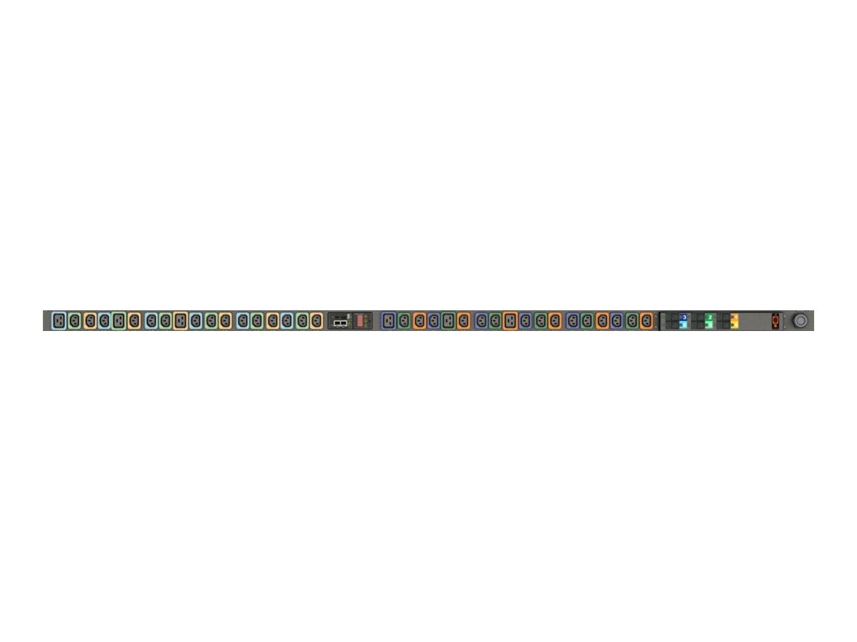 Geist Switched Outlet Level Monitoring EC MGU3EGW1-36PT63-3PS56B2A10-S-A - Zero U - Stromverteilungseinheit (Rack - einbaufähig)