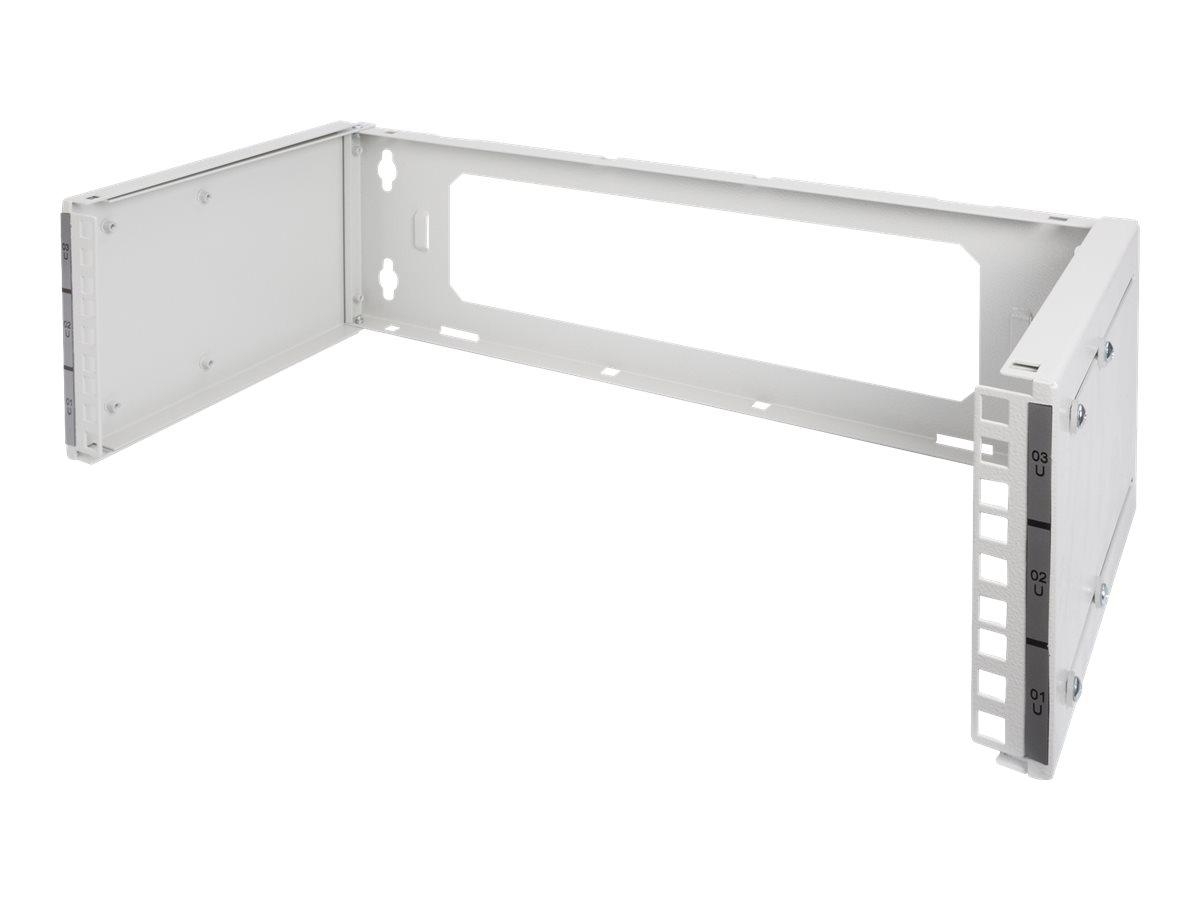 Digitus - Patch-Panel-Halterung - geeignet für Wandmontage - Grau, RAL 7035 - 3U - 48.3 cm (19
