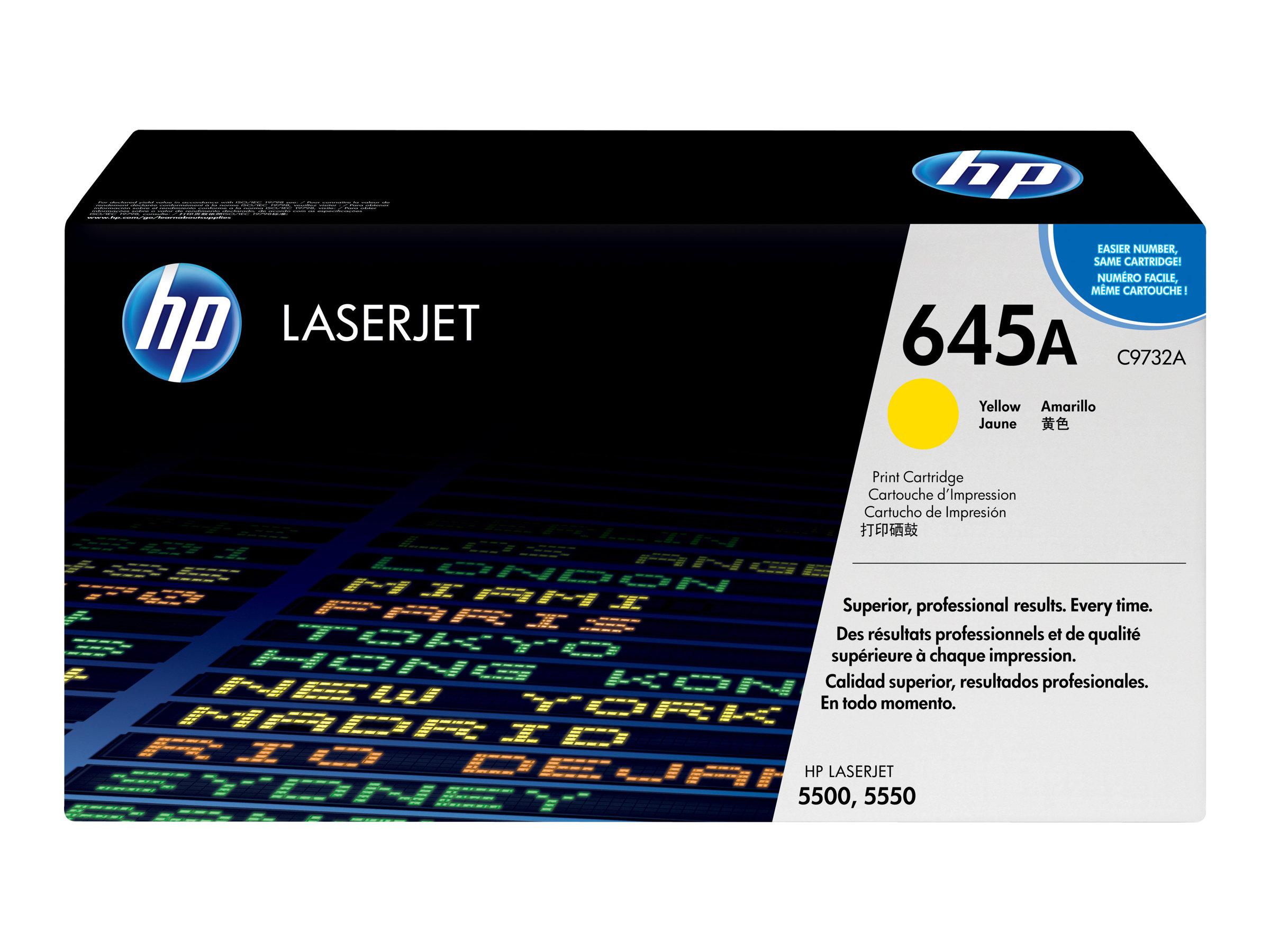 HP 645A - Gelb - Original - LaserJet - Tonerpatrone (C9732A) - für Color LaserJet 5500, 5550