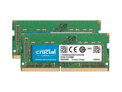 Crucial - DDR4 - 16 GB: 2 x 8 GB - SO DIMM 260-PIN - 2400 MHz / PC4-19200 - CL17