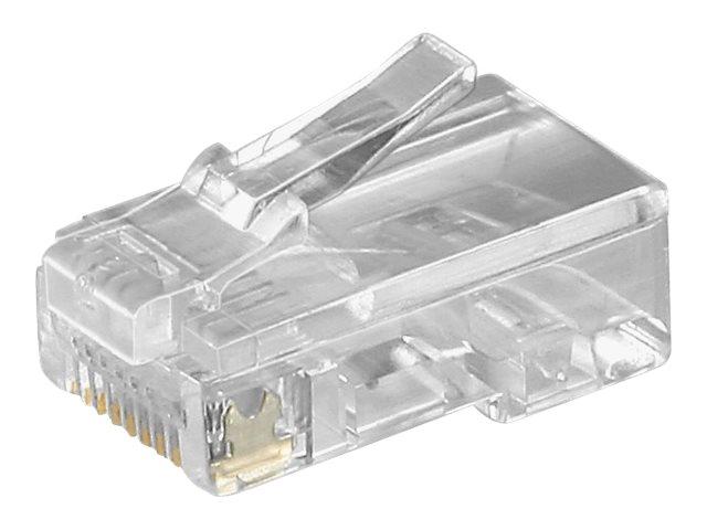 goobay - Netzwerkanschluss - RJ-45 (M) - durchsichtig