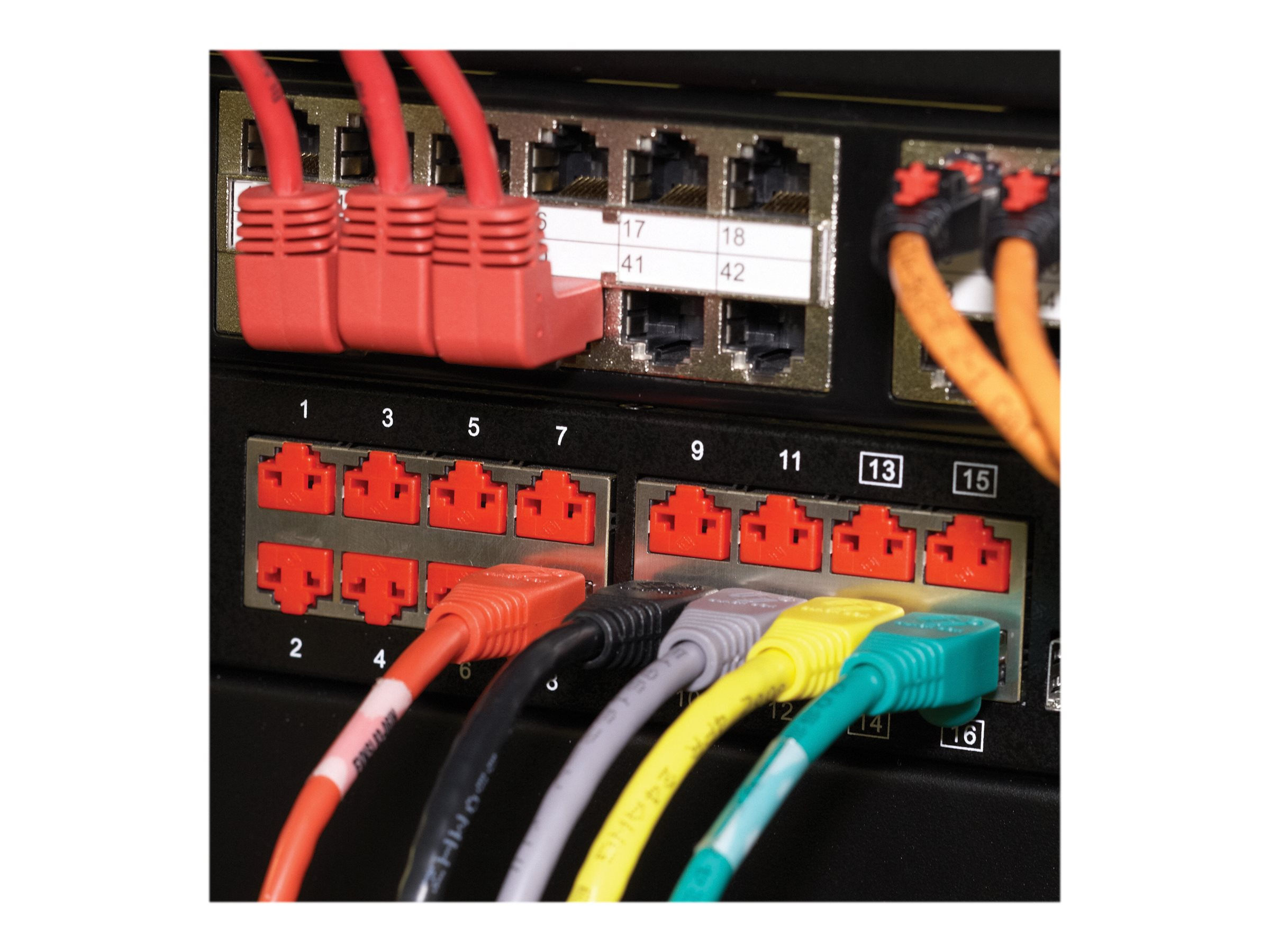 Black Box LockPORT - Steckdosensicherungs-Kit - Rot (Packung mit 25)