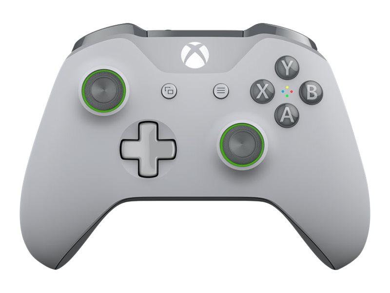 Microsoft Xbox Wireless Controller - Game Pad - kabellos - Bluetooth - Grau, grün - für PC, Microsoft Xbox One, Microsoft Xbox O