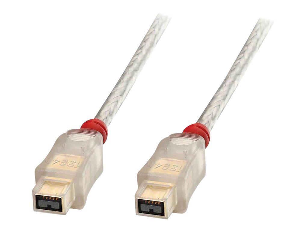 Lindy Premium - IEEE 1394-Kabel - FireWire 800 (M) bis FireWire 800 (M) - 30 cm - geformt - durchsichtig
