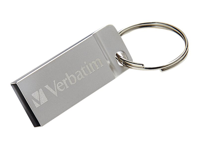 Verbatim Metal Executive - USB-Flash-Laufwerk - 16 GB - USB - Silber