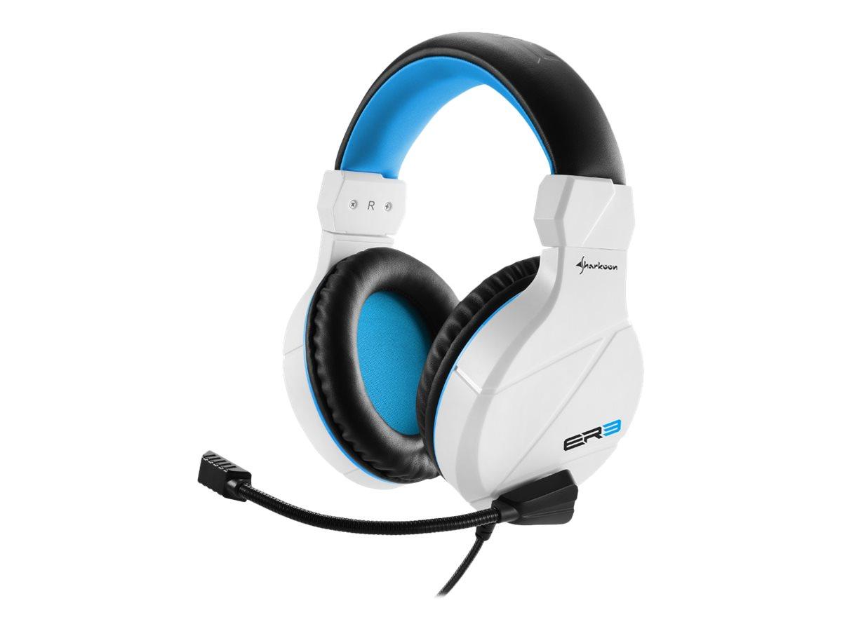 Sharkoon Rush ER3 - Headset - ohrumschliessend - kabelgebunden - Weiss/Blau