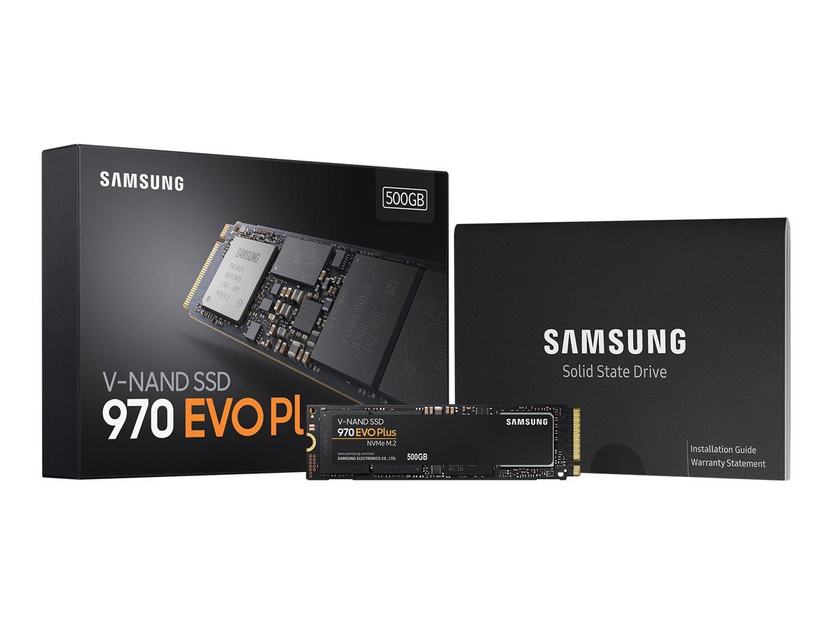Samsung 970 EVO Plus MZ-V75S500BW - Solid-State-Disk - verschlüsselt - 500 GB - intern - M.2 2280