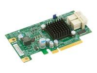 Supermicro Add-on Card AOC-SLG3-2E4 - Speicher-Controller - 2 Sender/Kanal - PCIe 3.0 Low-Profile - 6.4 GBps - PCIe 3.0 x8