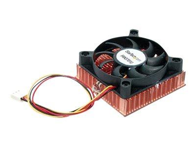 StarTech.com 1HE 60x10mm Socket 7/370 CPU Lüfter mit Kupfer mit Kühlkörper & TX3 - Prozessor-Luftkühler - (für: Socket A, Socket