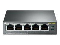 TP-Link TL-SF1005P - Switch - unmanaged - 5 x 10/100 (4 PoE) - Desktop - PoE (58 W)