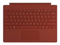 Microsoft Surface Pro Signature Type Cover - Tastatur - mit Trackpad - hinterleuchtet - Englisch (International) - Poppy Red