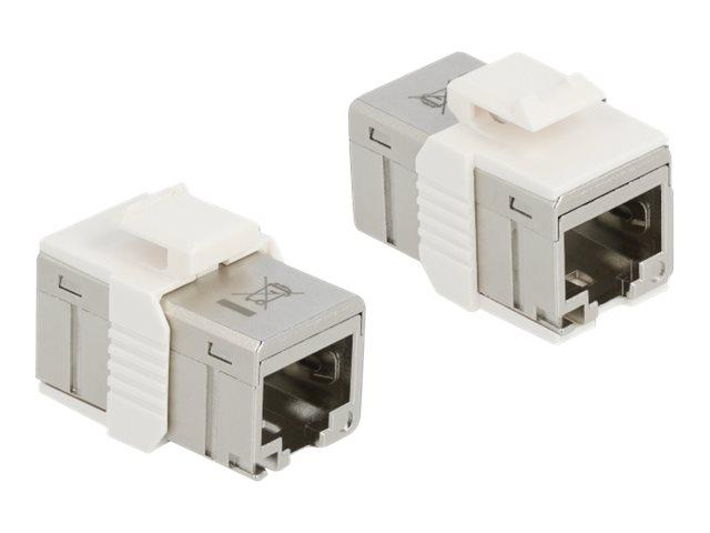 Delock - Netzwerkkoppler - RJ-45 (W) bis RJ-45 (W) - STP - CAT 6a - Keystone-Buchse