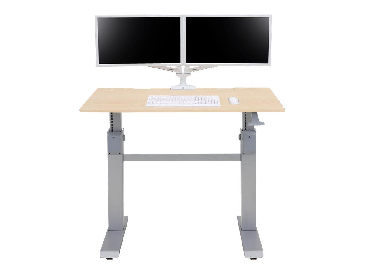 Ergotron WorkFit-DL - Sitz-/ Stehtisch - mobil - Büro - rechteckig - Ahorn