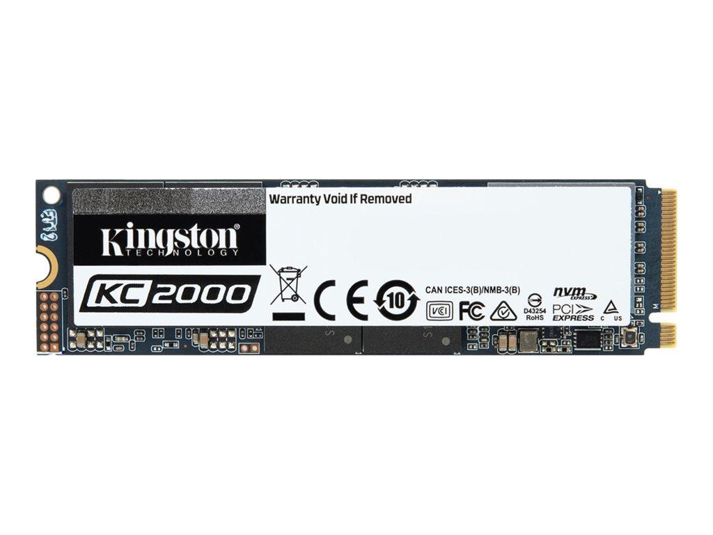 Kingston KC2000 - Solid-State-Disk - verschlüsselt - 1 TB - intern - M.2 2280