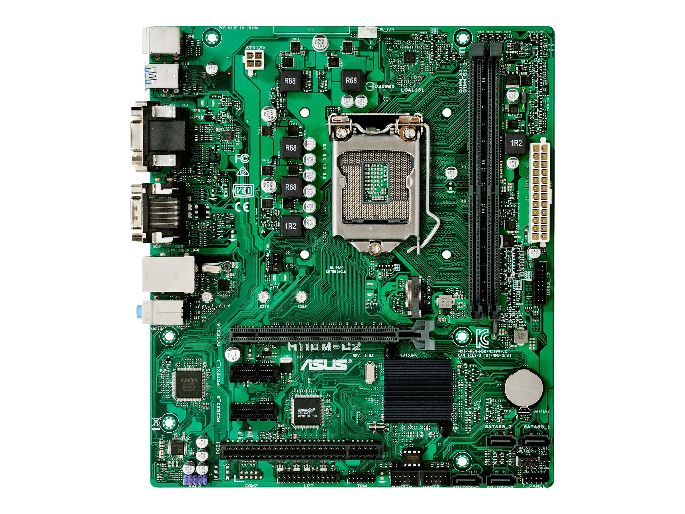 ASUS H110M-C2/CSM - Motherboard - micro ATX - LGA1151 Socket - H110 - USB 3.0
