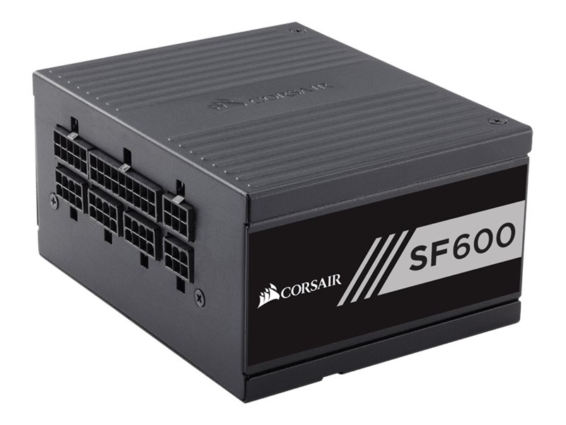 CORSAIR SF Series SF600 - Stromversorgung (intern) - ATX12V 2.4/ EPS12V 2.92 / SFX12V - 80 PLUS Gold - Wechselstrom 100-240 V -
