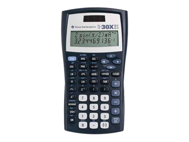 Texas Instruments TI-30X IIS - Wissenschaftlicher Taschenrechner - 10 Stellen + 2 Exponenten - Solarpanel, Batterie