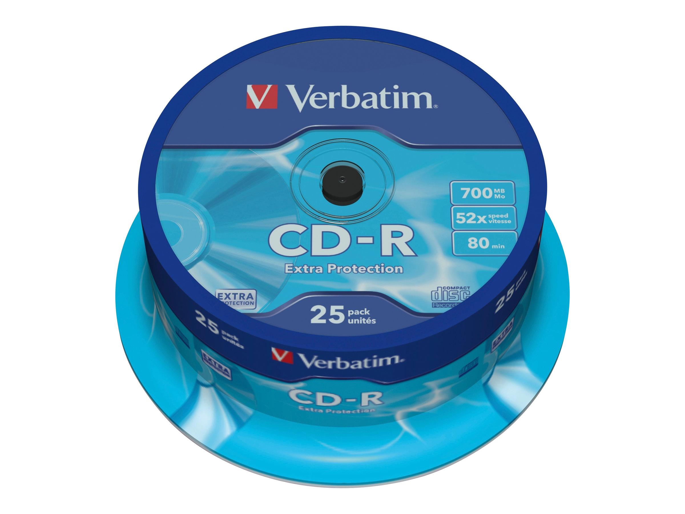Verbatim CD-R Extra Protection - 25 x CD-R - 700 MB 52x - Spindel