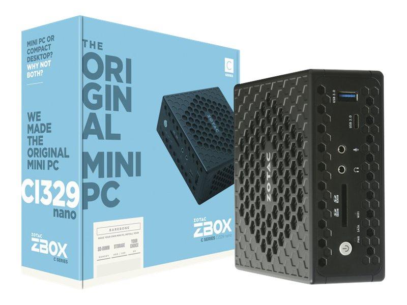 ZOTAC ZBOX C Series CI329 nano - Mini-PC - Celeron N4100 / 1.1 GHz - RAM 4 GB - SSD 64 GB - UHD Graphics 600